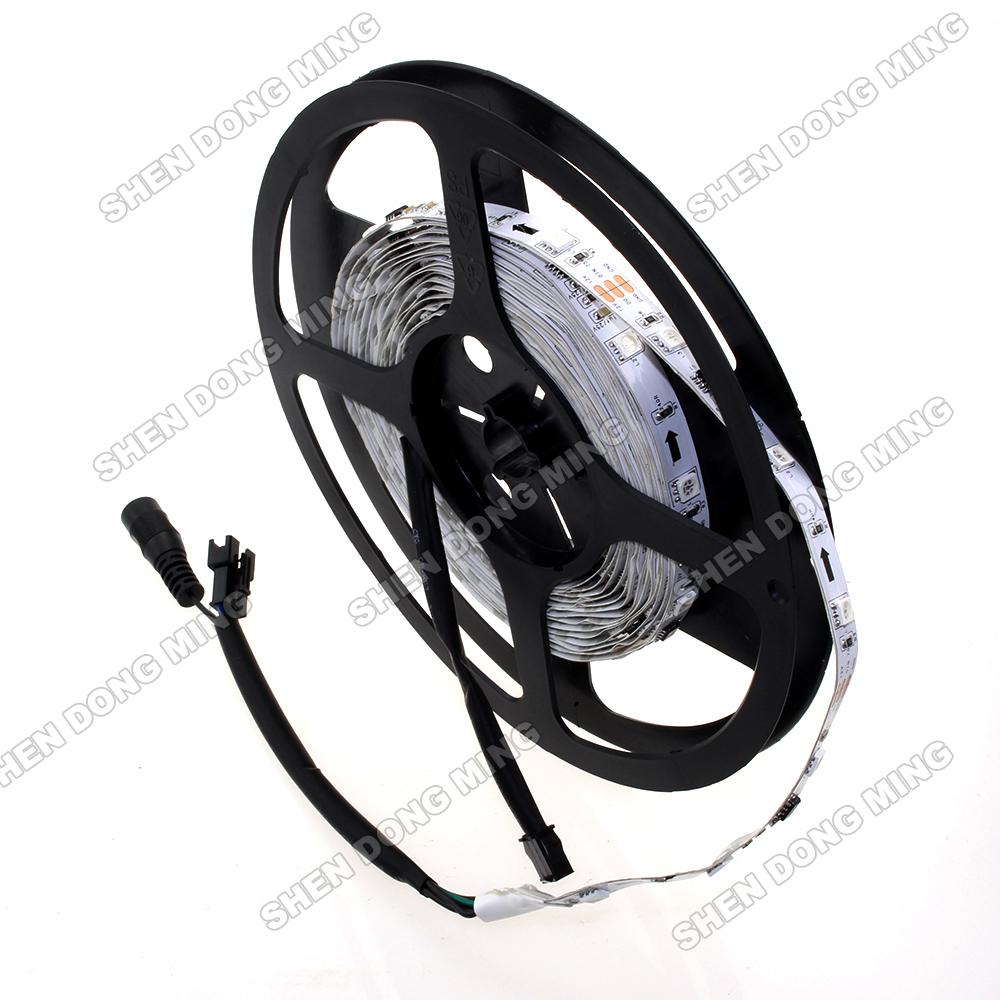 5m 30leds/m 10IC/M non-waterproof 5050 changeable RGB led pixel strip, led lighting 5050, digital led strip, UCS1903 led light(China (Mainland))