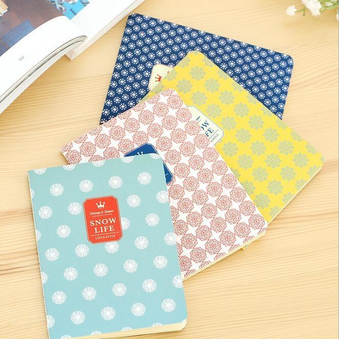 142*105mm/New Snowflake Series 64K White Blank notebook/kids Diary agenda/office school supplies/wholesale<br><br>Aliexpress