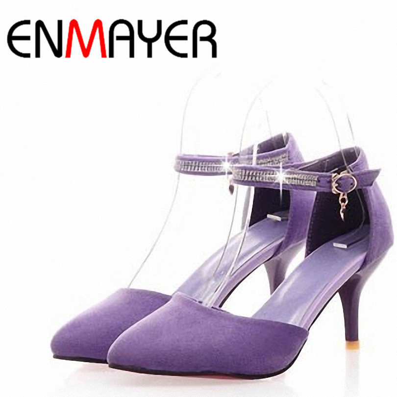 ENMAYER Hot! New 2014 high-heeled Shoes 5cm Pointed Toe women pumps Fashion Platform Pumps wedding shoes big size 34-43
