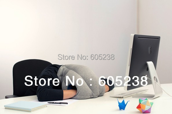 The Ostrich Pillow Grey Travelling Pillow