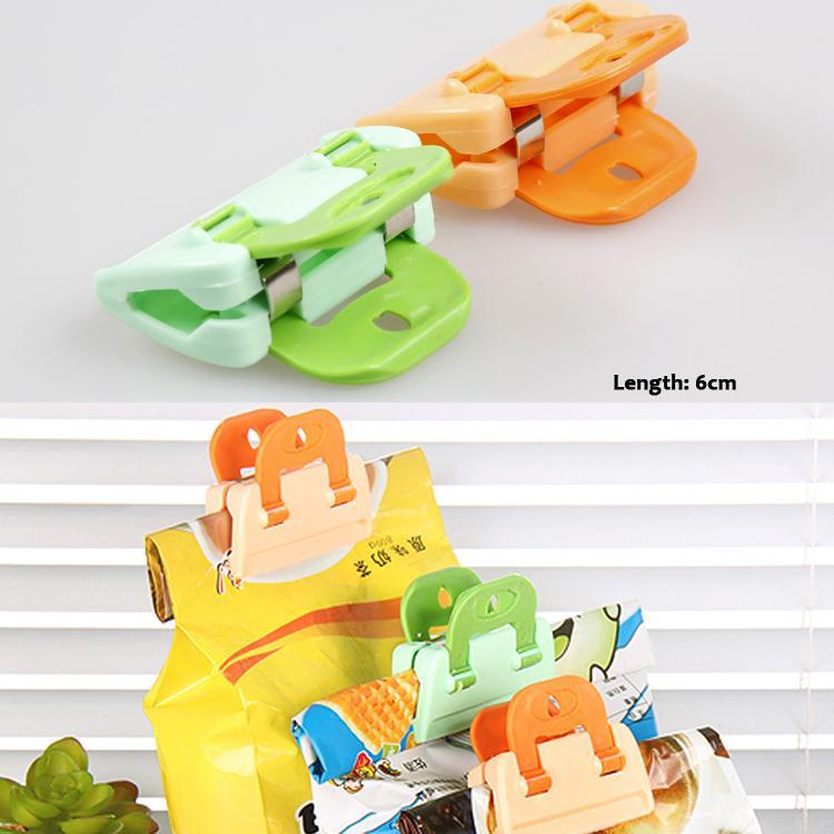 Newly Arrival 2pcs Convenient Plastic Food Sealing Clip Home Traveling Necessity Color Random HG 1603