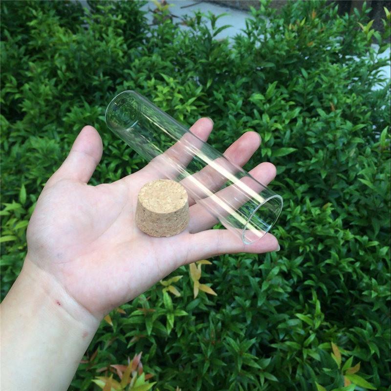 100ml Glass Bottles Vials Jars With Corks Decoration Crafts Jars Glass Transparent Clear Bottles Corks (6)