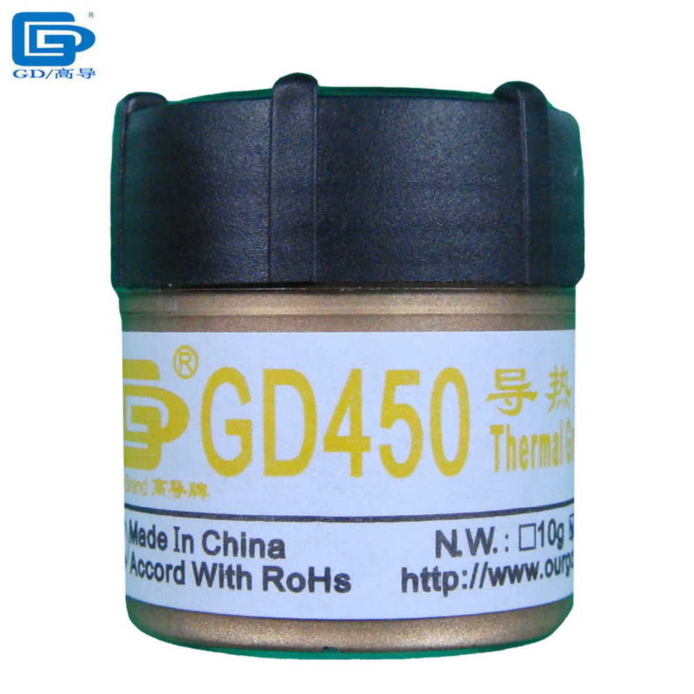 GD Brand Net Weight 20 Grams Golden GD450 Thermal Conductive Grease Paste Silicone Heatsink Compound For LED GPU CPU Cooler CN20(China (Mainland))