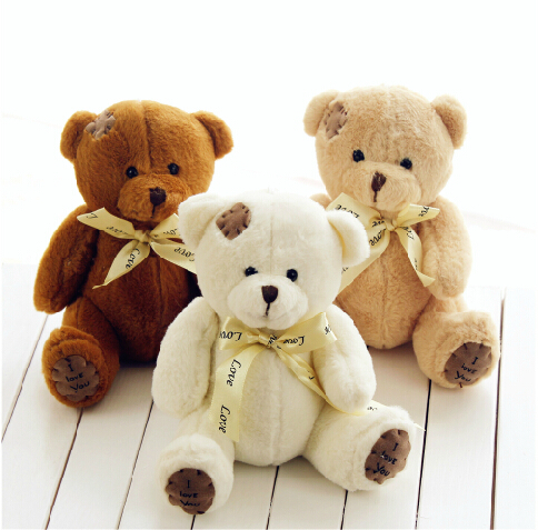 One Piece 18cm High Quality Super Kawaii Cute Lovely Teddy Bear Plush Toys & Stuffed Dolls Wedding Decoration Baby Toy Baby Gift(China (Mainland))