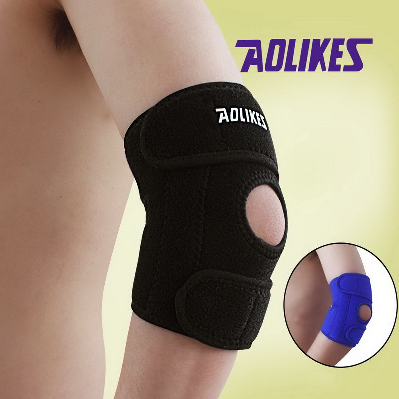 AOLIKES 1 Piece Adjustable Elbow Support Pads With Spring Supporting Codera Protector Sports Safety For Ciclismo Gym Tennis(China (Mainland))