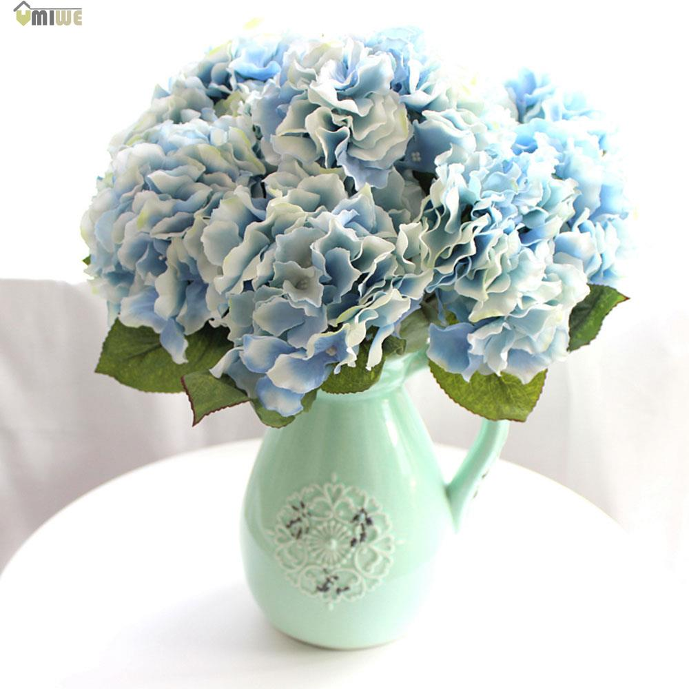 umiwe wedding decoration artificial flowers real touch silk hydrangea bouquets home party. Black Bedroom Furniture Sets. Home Design Ideas