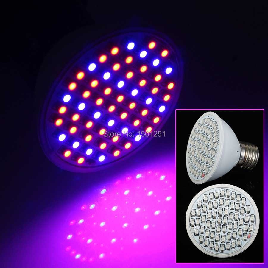 10 pcs lot 6W E27 40 red 20 blue 60 LEDS Hydroponic Gardening Supplies LED Plant Grow Light Bulbs free shipping(China (Mainland))