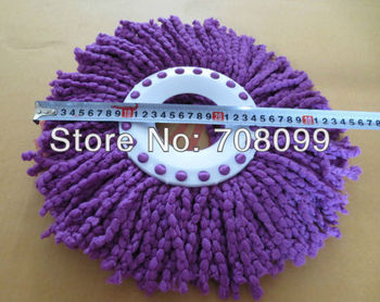 FedEx Free Shipping  Wholesales 400pcs/lot   Purple Spin Mop Replacement Cloth  Mop Head Cleaning Mop Pads
