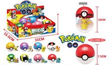 8pcs/lot pokeball Toys 8Pcs 7.5cm Pokeball + 8pcs Random Pokemon Figures Anime Action Figures Kid toys for children gifts
