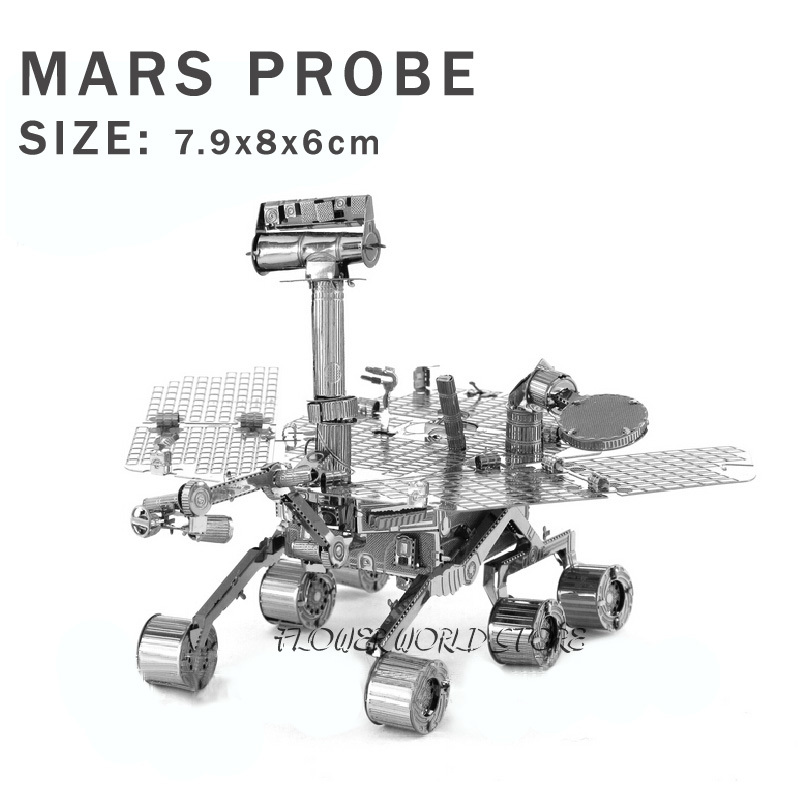 New creative Mars Rover 3D puzzles 3D metal model Creative DIY Wanderer No. Space vehicles Jigsaws Adult/Children gifts toys(China (Mainland))