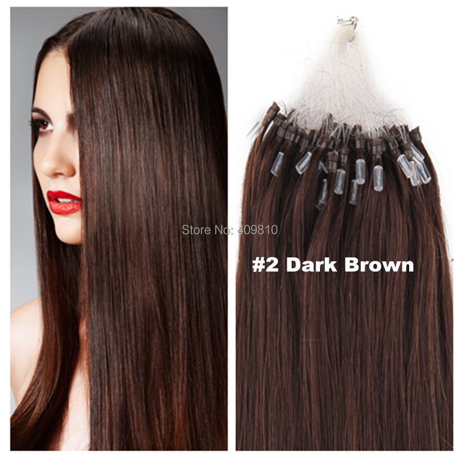 300S 16- 24 Micro rings/loop remy Human Hair Extensions hair extention, #2,100g&amp;100s,1g/s<br><br>Aliexpress