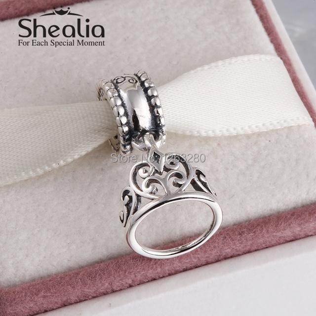 Весна снег белый тиара мотаться подвески-талисманы подвески 925 чистое серебро ювелирные изделия для женщины подходит своими руками браслет SH0631
