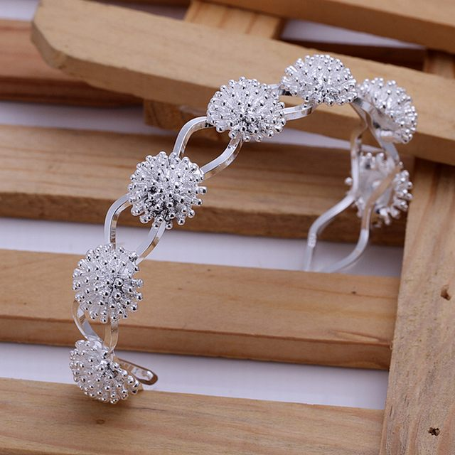 Hot, factory wholesale and retail 925 silver jewelry, handmade contemporary fine fashion jewelry bracelets fireworks, B141(China (Mainland))