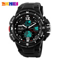 Skmei Luxury Brand Men Military Sports Watch Digital LED Quartz Waterproof Wristwatches Rubber Strap Relogio Masculino