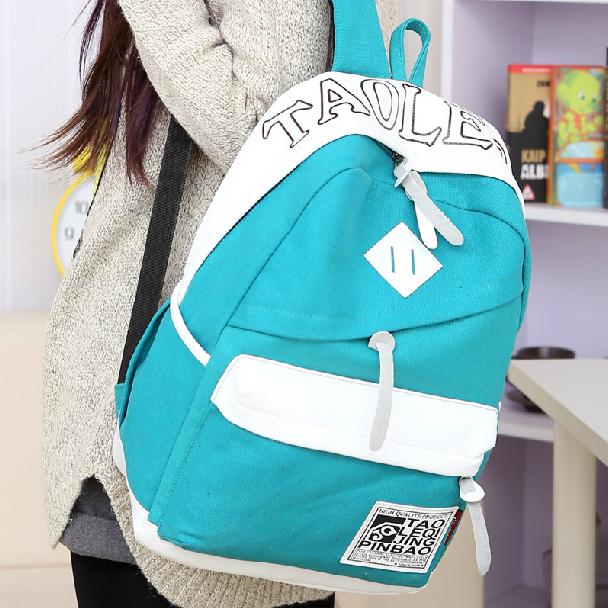 Preppy style canvas women backpack students school bag chromophous travel laptop student backpacks - Tilorraine CO.,LTD. Store store