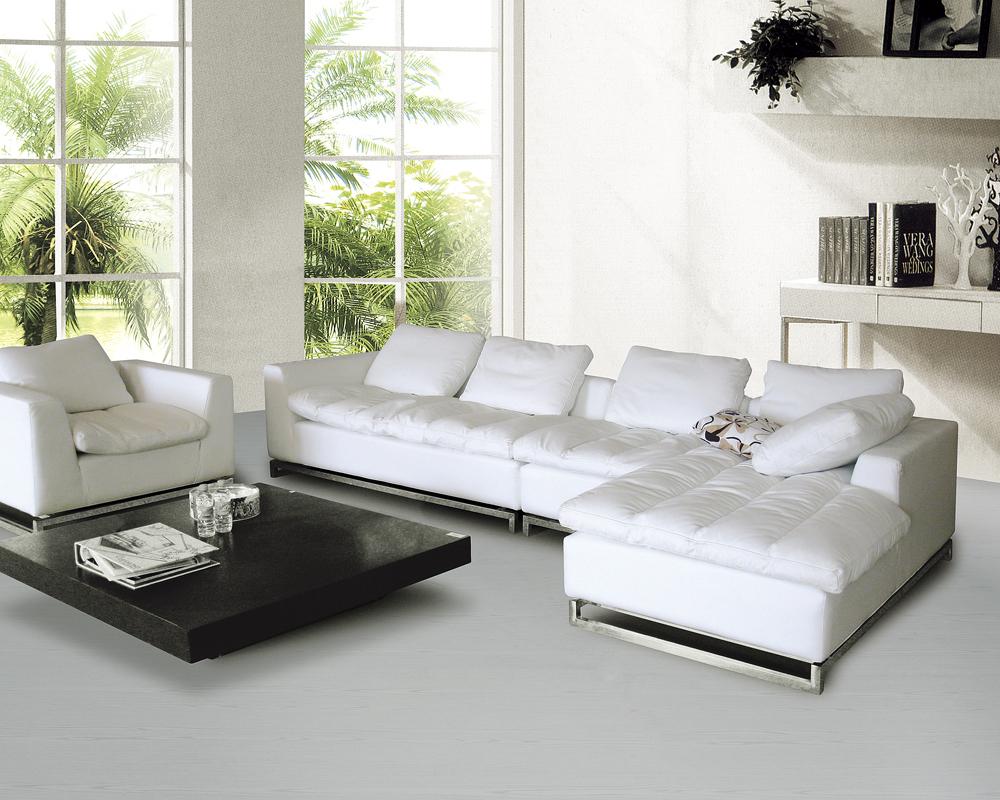Acheter haute qualit salon canap en promotion v ritable can - Canape cuir haute qualite ...