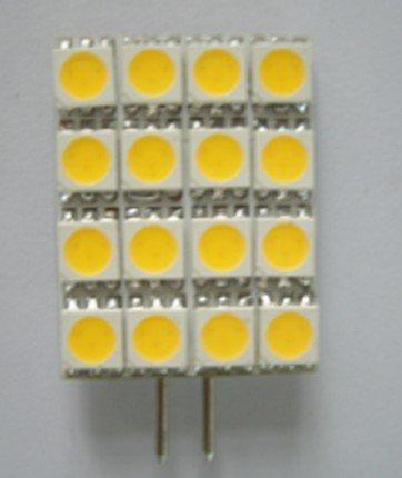 led G4 light bulb,2.5W;16pcs 5050 SMD LED;DC12V input
