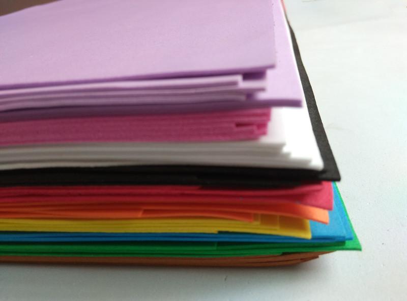 50pcs/lot 20*29cm A4 1mm EVA Foam Material Sheet DIY handicraft Multicolour(China (Mainland))