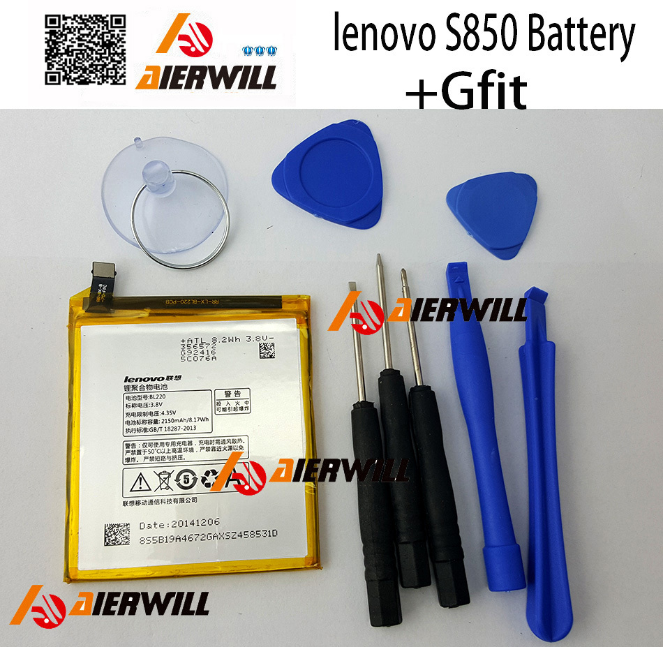 100% Original lenovo S850 Battery S850T BL220 2150mAh Mobile Phone Batteries backup accessories high quality free shipping