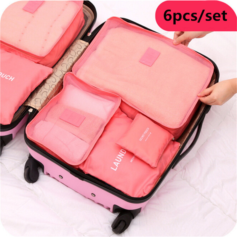 6pcs/set Travel Storage Boxes Included Bags Waterproof Business Luggage Bag Clothing Underwear Finishing 5N1322(China (Mainland))