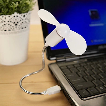 Soft Blades,Metal Head Portable Flexible Mini USB cooling Fan for Notebook Laptop PC Computer mobile power small fan coolerJZ216(China (Mainland))