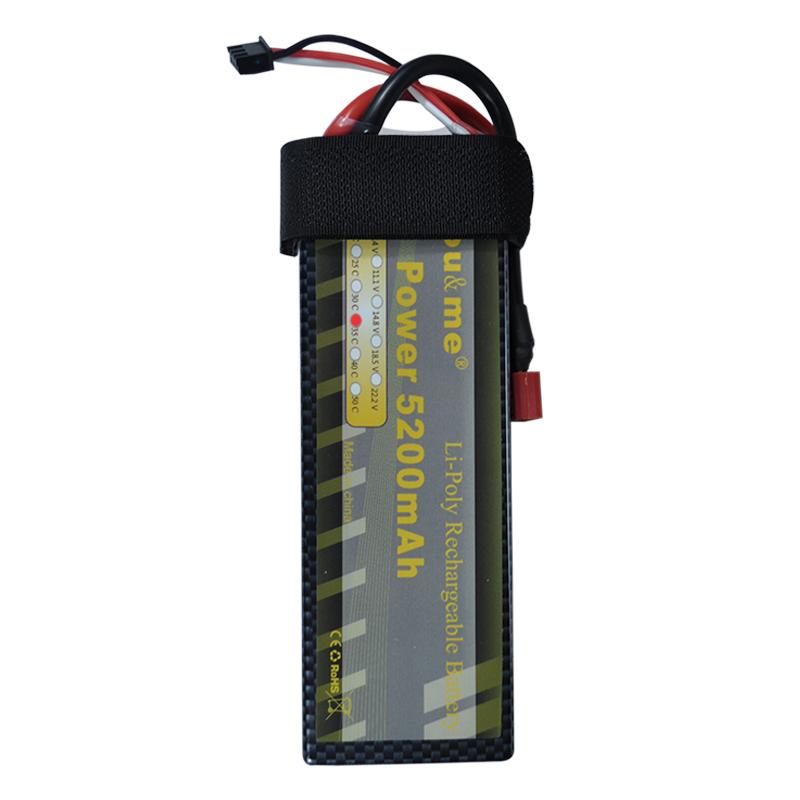 You&me 7.4V 5200mAh 35C 2S RC LiPo Battery Hard Case for 1/10 RC Car T plug Truck(China (Mainland))