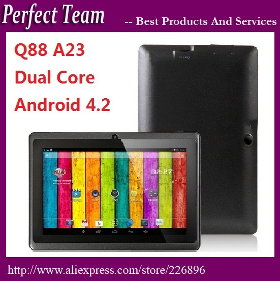 10pcs/lot q88 A23 dual core dual camera 2800mah android 4.2 512M/4GB Capacitive tablet pc 9 colors DHL Free shipping(China (Mainland))