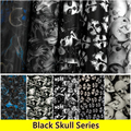 0 5m Wide Free Shipping Black SKULL Hydrogarphic Film Water Transfer Printing Film Aqua Print Films
