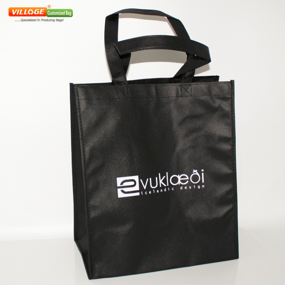 Cheap Wholesale 100PCS Free Custom Shopping Bags With Logo Online Free Shipping 35h*30w*18g CM(China (Mainland))