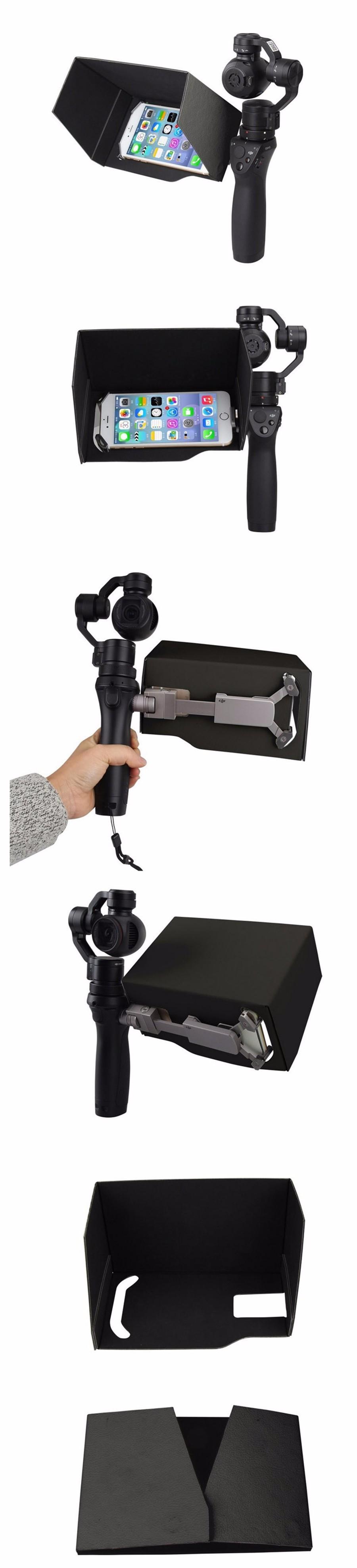 SunShade Hood for DJI Osmo 5.5 Inch Cellphone Phone Smartphone SunHood Monitor Shade DJI OSMO Accessories