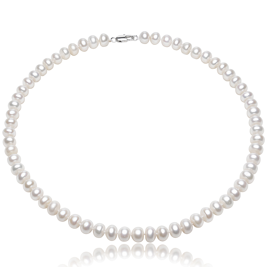 FEIGE Genuine 65 75mm Natural White Freshwater Pearl Choker Necklaces For Womens Wedding