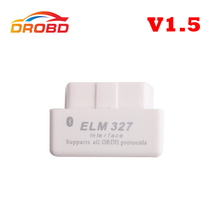 Auto Diagnostic Interface Code Reader Hardware Mini ELM 327 V1.5 Support Full Protocol Mini ELM327 Bluetooth OBD-II OBD2 Scanner(China (Mainland))