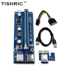Buy 10pcs TISHRIC VER006C Blue 1x 16x PCI Express Riser Card PCI-E Extender 60cm USB 3.0 Cable SATA 6Pin Power BTC Miner for $51.26 in AliExpress store