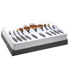 10pcs/set Powder/Makeup Brush, Beauty Oval Cream Puff Cosmetic Toothbrush-shaped Foundation Brush(China (Mainland))
