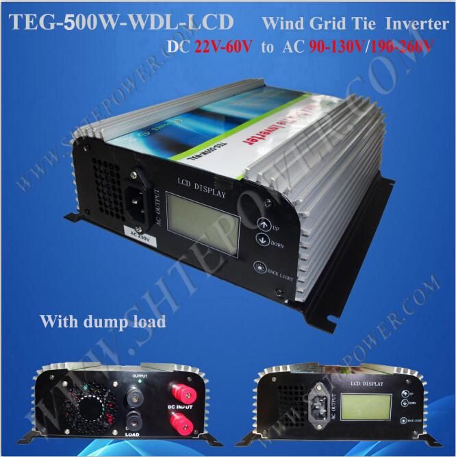 High effiency 22v-60v 240v grid tie power inverter 500w for wind turbine system(China (Mainland))