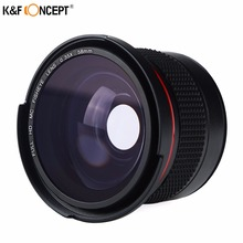 Buy K&F CONCEPT 58mm 0.35x Fisheye Wide-Angle Macro Camera Lens Canon EOS 700D 650D 600D 550D1100D Rebel T5i T4i T3i T3 T2i Lens for $25.39 in AliExpress store