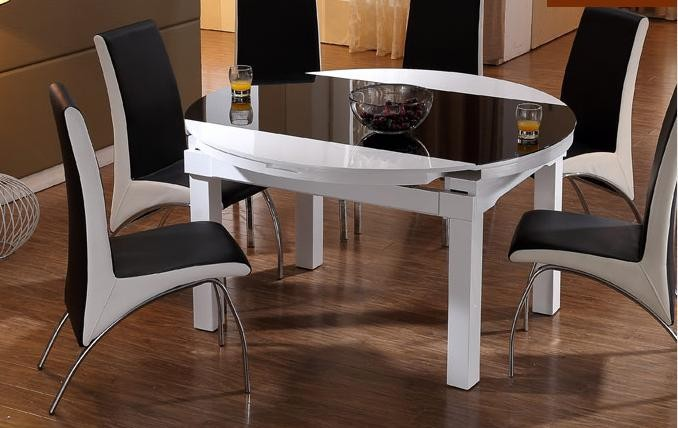 glass solid wood round dining tables in dining room sets from