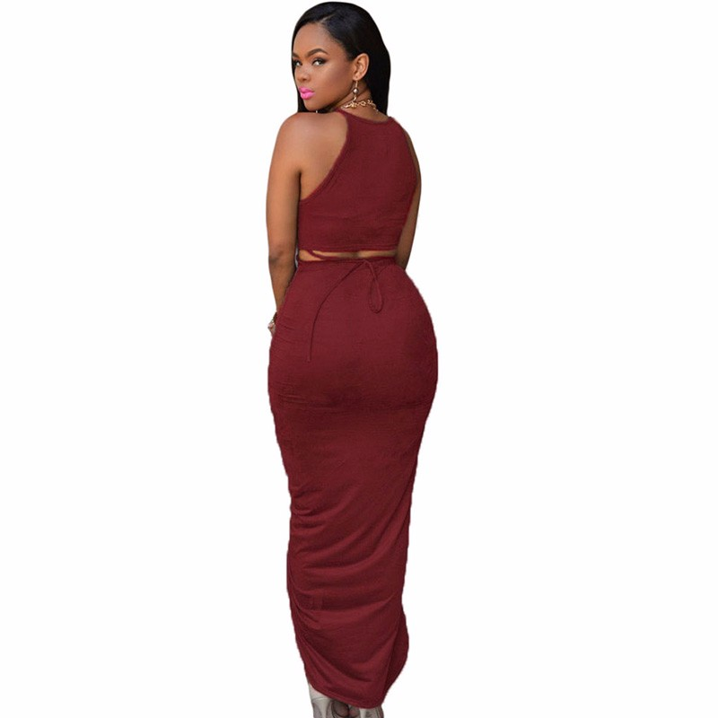 Date-Red-Cotton-Two-Piece-Maxi-Skirt-Set-LC60833-3-2