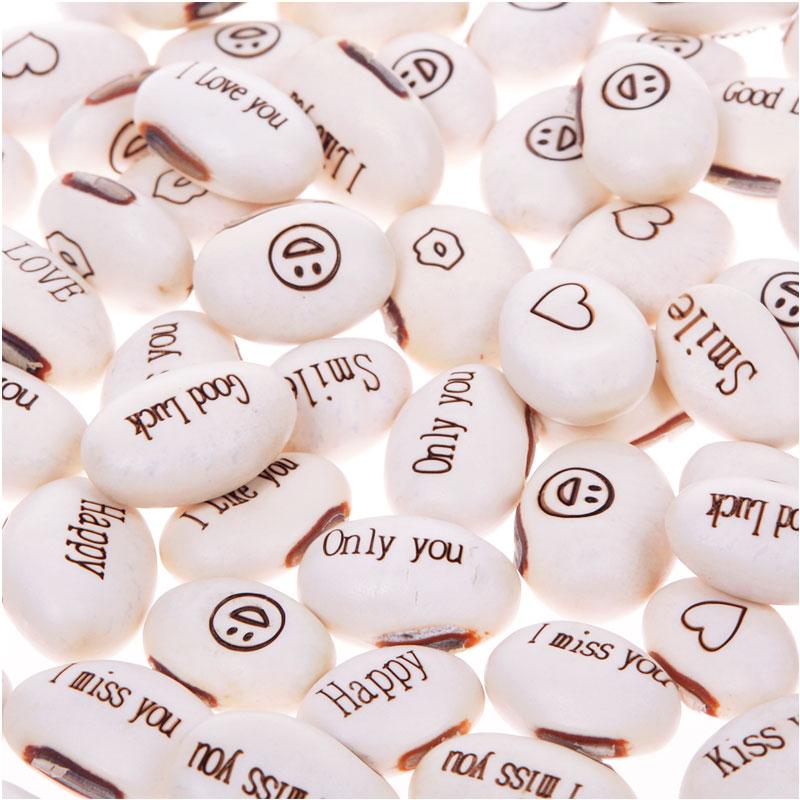 Garden Supplies Mini Magic 50pcs White Bean Seeds Gift Plant Growing Message Word Magic Hot Sale #57674(China (Mainland))