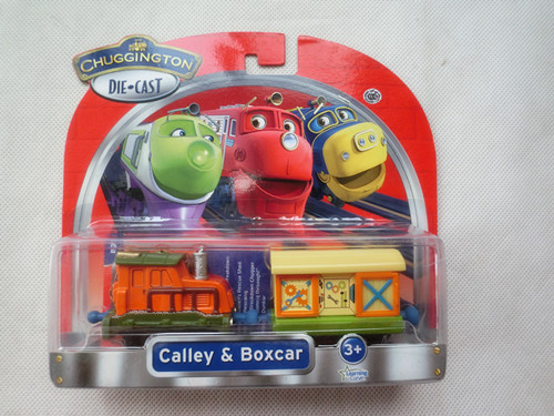 Learning Curve Chuggington Diecast Calley & Boxcar Metal Toy Train New in Box(China (Mainland))