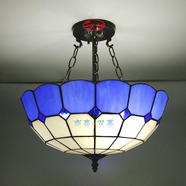 Promotional offers simple pastoral crystal blue Mediterranean restaurant bar table lamp Pendant lamp creative lamp aisle lights(China (Mainland))