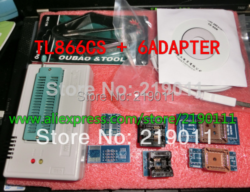 v6.5 TL866CS Universal Programmer Support Over 13000 Chips USB Programmer with 6PCS Socket and IC Picker, Free Shipping