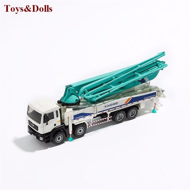 1/55 alloy concrete pump truck mannequin, slide toy fashions building autos,Child academic toys brinquedo children reward