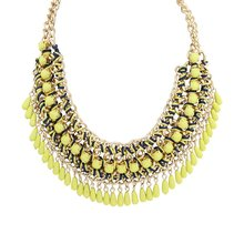2015 New Fashion Bohemia Knitting Necklace Choker Collar Necklace Fine Jewerly For Women Necklace