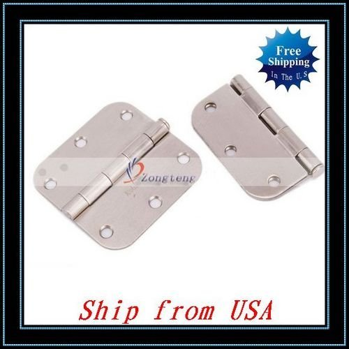 Free Shipping + Wholesale 10pcs/lot One Pair Satin Nickel Door Hinges 3.5'' Stainless Steel Ship from USA-J04183