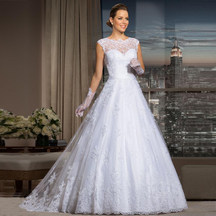 Robes De Mariage encaje vestidos De novia 2016 hombro apliques país turquía corte De boda del