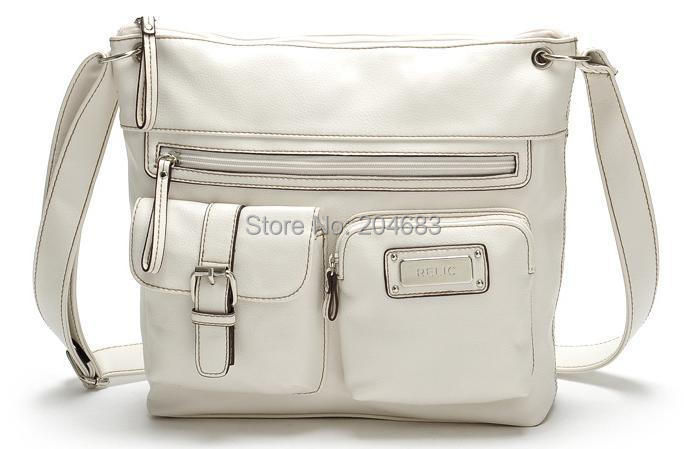 2014 New fashion womens handbag white large pocket decoration one shoulder cross body bags lady - JULY SHOP (Min. order $15 store)