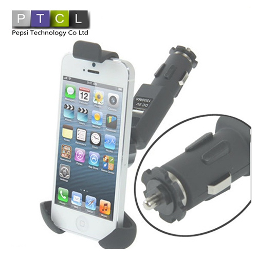 Universal Car Mount with Micro USB Cable Charger Phone Holder Stand For mobile phone(China (Mainland))