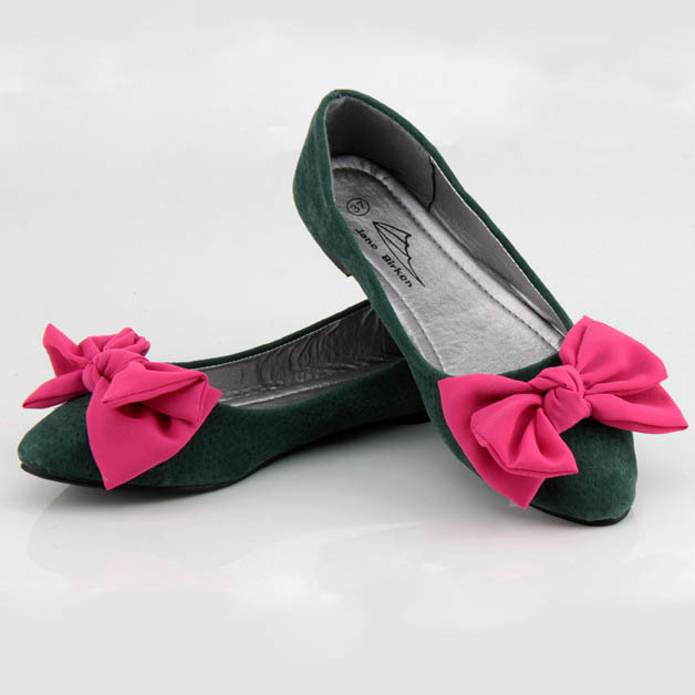Fashion Pointed Toe Genuine Leather Women Flats Color Block Bow Decoration Women Flat Shoes Leather Flats For Women Ballerinas<br><br>Aliexpress