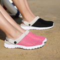 Fashion Women Sandals Shoes breathable Mesh Light Slip on Walking Shoes Women Casual Flip Flops Lovers